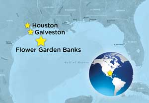Location of the Flower Garden Banks