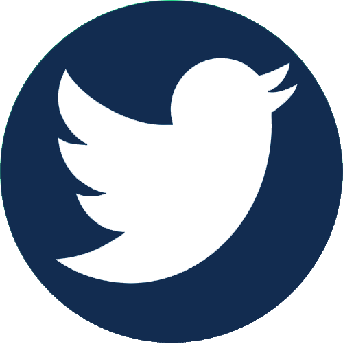 Twitter icon in dark blue