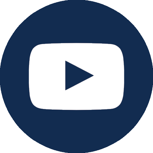 YouTube icon in dark blue